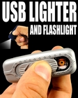 Amazing 2 in 1 USB Rechargeable Lighter with LED Flashlight