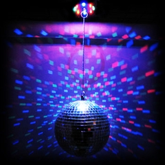 Amazing Color Changing LED Mirror Disco Ball