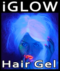 "Amazing I Glow ""Glow in the Dark"" Hair Gels"