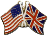 American And Great Britian Flags Lapel Pin