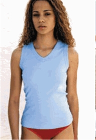 American Apparel  Sleeveless V Neck Shirt