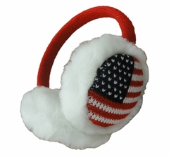 American Flag Adjustable Soft Furry Earmuffs