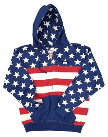 American Flag Adult Zip-up Hoodie