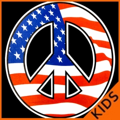 American Flag Peace Sign Kids T-shirt
