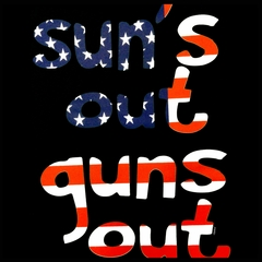American Flag Sun's Out Guns Out Men's T-Shirt