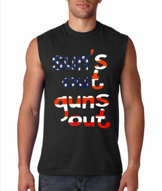 American Flag Sun's Out Guns Out Sleeveless T-Shirt