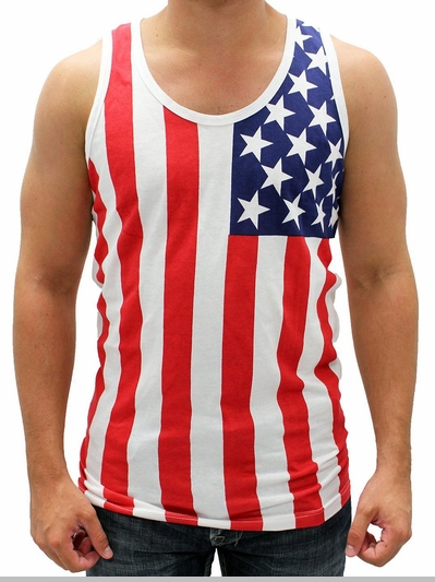 American Flag Tank Tops - USA Tank Tops<!-- Click to Enlarge-->