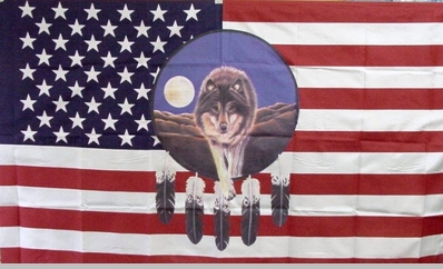 American Wolf Flag<!-- Click to Enlarge-->