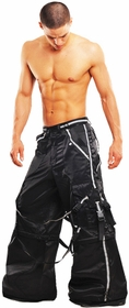 Amok Hurricane Rave Bondage Pants (Black/Reflector)