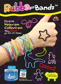 Animal Rubberband Bracelets :: Fun Collectible Rubber Bands For Kids