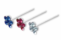 Assorted Colored  Flower Nose Studs  (Set of 3)