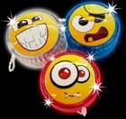 Assorted Light Up Emoji Yoyo