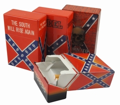 Assorted Rebel Flag Flip Top Cigarette Strong Box (For Regular Size Only)