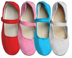 Assorted Wholesale Mary Jane Woman's China Doll Slippers (Case of 48) - $2 a pair!