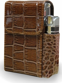 Automatic Rising Cigarette Case with Lighter Holder (For Regular Size & 100's)