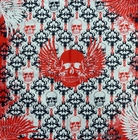 Bandanas - Gothic Winged Skull Bandana (White/Red/Black)