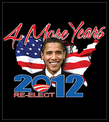 Barack Obama 4 More Years Re-Elect in 2012 Men's T-Shirt