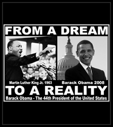 """Barack Obama & Martin Luther King """"From Dream To Reality"""" Men's T-Shirt"""