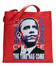 """Barack Obama """"The Time Has Come"""" Canvas Tote Bag"""