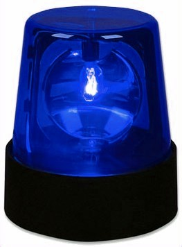 Battery Operated Led Police Light Blue