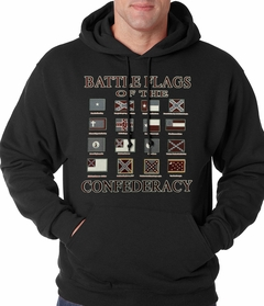 Battle Flags of the Confederacy Adult Hoodie