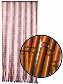 Beaded Curtains - Brown Bamboo Door Beads.