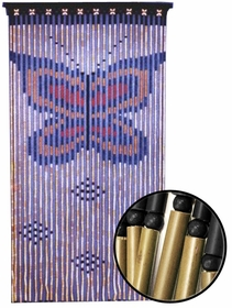 Beaded Curtains - Butterfly Wooden Door Beads