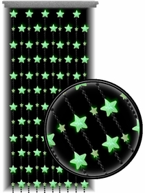 Beaded Curtains - Glow in the Dark Stars Door Beads