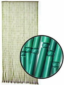 Beaded Curtains -Green Bamboo Door Beads