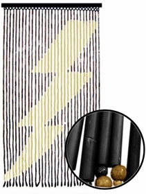 Beaded Curtains - Lightning Bolt Wooden Door Beads