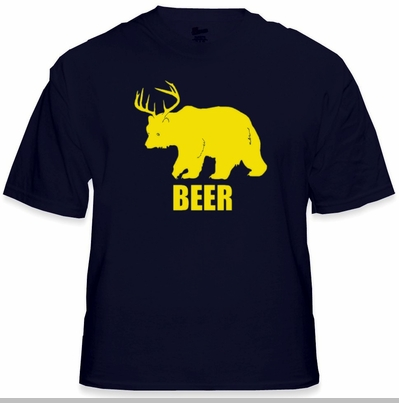 Bear + Deer = Beer T-Shirt<!-- Click to Enlarge-->