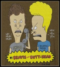 """Beavis and Butthead """"Who is This!"""" Vintage T-Shirt"""