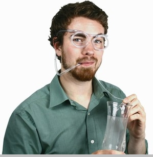 Beer Goggles - Drinking Straw Beer Goggle Glasses<!-- Click to Enlarge-->