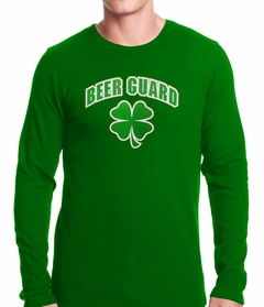 Beer Guard Irish Shamrock St. Patrick's Day Thermal Shirt