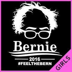 Bernie Sanders Face - Feel the Bern Ladies T-shirt