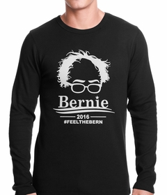 Bernie Sanders Face - Feel the Bern Thermal Shirt