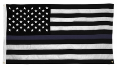 Bewild 5 x 9.5 Feet Jumbo Industrial Thin Blue Line American Flag with 3 Heavy Duty Grommets