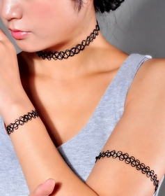 BeWild Brand ® Tattoo Stretch Choker Necklace