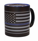Thin Blue Line American Flag Blue Lives Matter 11oz Coffee Mug Tea Cup