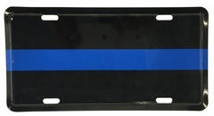 Bewild Brand Thin Blue Line License Plate