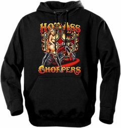 "Biker Hoodies - ""Hot Ass Choppers"" Biker Hoodie"