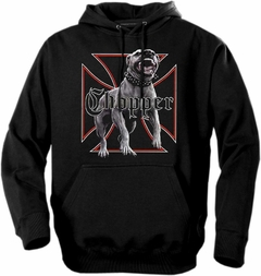 "Biker Hoodies - ""Nasty Chopper Dog"" Biker Hoodie"