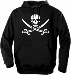 Biker Hoodies - Pirate Skull and Swords Adult Biker Hoodie