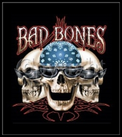 "Biker Shirts - ""Bad Bones Bikers"" Biker Shirt"