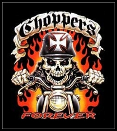 "Biker Shirts - ""Chopper Ghost Rider"" Biker Shirt"