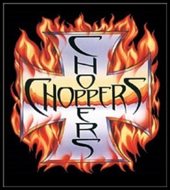 "Biker Shirts - ""Chopper in Flames"" Biker Shirt"