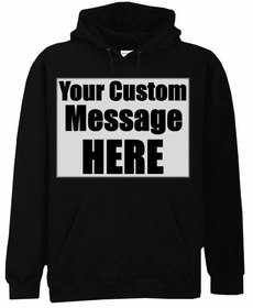 Black Custom Hooded Sweatshirt