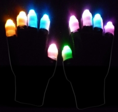 Black Ghost  Multicolor LED Lightshow Glove (Clearance)