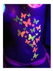 Black Light Reactive Body Stickers - Butterflies