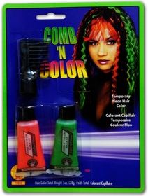 Black Light Reactive Comb 'n  Color Hair Color (2 pack)